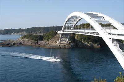 観光・レジャー・くしもと大橋と巡航船